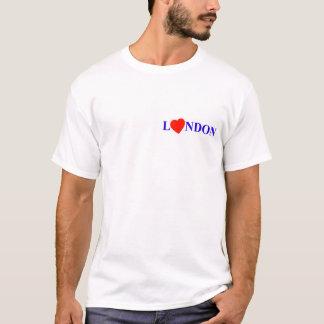 London red heart camiseta