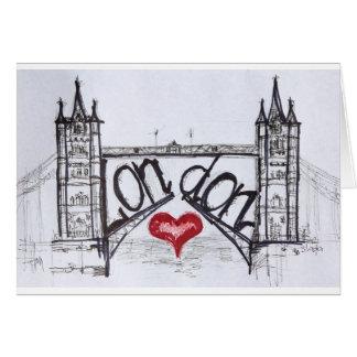 Londres con amor tarjeta de felicitación