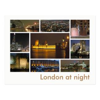 Londres en la multi-imagen de la noche postal