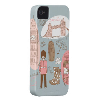 Londres Case-Mate iPhone 4 Protectores