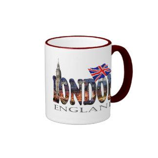 Londres Inglaterra Taza De Dos Colores
