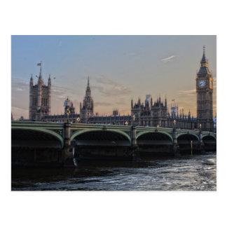 Londres, postal del parlamento