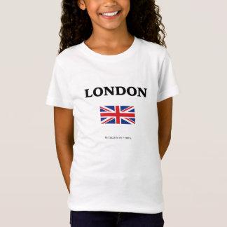 Londres. Union Jack y coordenadas de GPS Camiseta