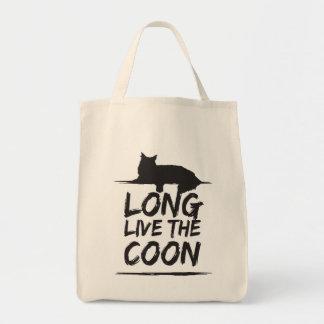 Long The En vivo y en directo Coon! Maine Coon Bolso De Tela