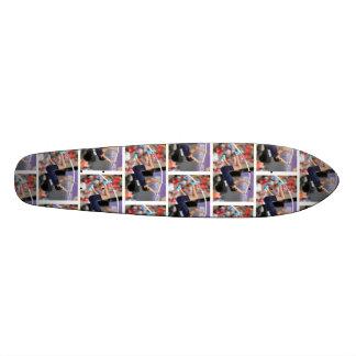 longboard del salto con pértiga tabla de skate