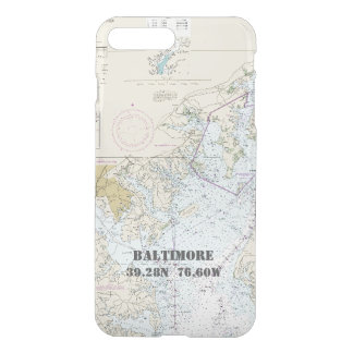 Longitud náutica de la latitud de la carta del MD Funda Para iPhone 8 Plus/7 Plus