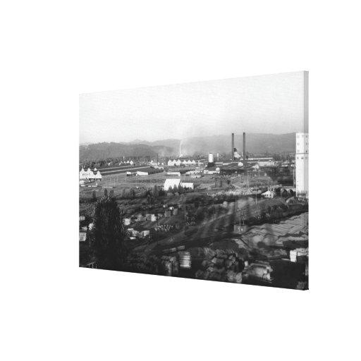 Longview, opinión de WA de la madera de construcci Impresión En Lienzo Estirada