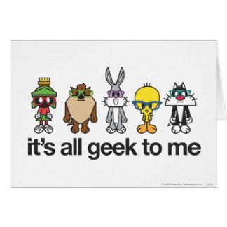 Looney Tunes Nerds - All Geek Greeting Cards