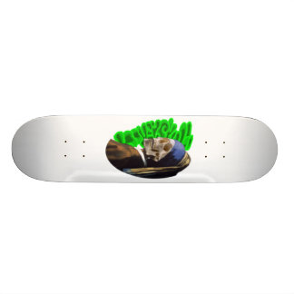 LooneySkull con una perla Earing Tabla De Skate