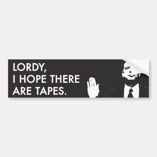 Lordy, espero que haya cintas pegatina para coche
