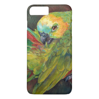 Loro delantero azul del Amazonas Funda iPhone 7 Plus
