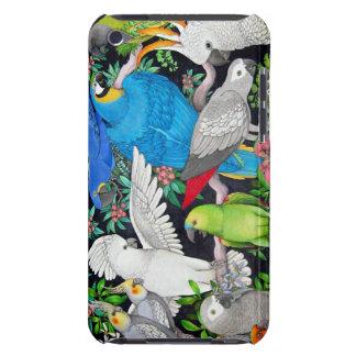 Loros del mascota de la caja de la mota del mundo iPod touch Case-Mate protector