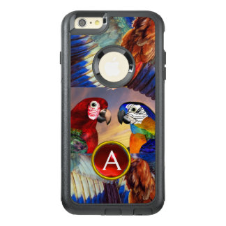 LOROS HÍPERES /RED Y MONOGRAMA AZUL DE LA PIEDRA FUNDA OTTERBOX PARA iPhone 6/6S PLUS