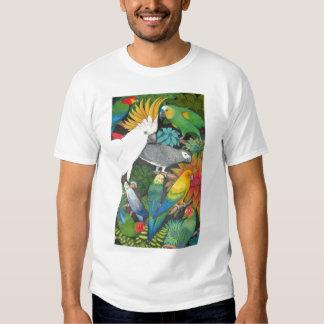 Loros y camiseta de Bromeliads