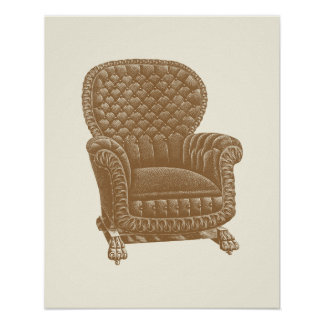 Los 1900s de la silla de Brown del eje de balancín Póster