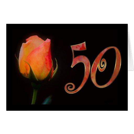 Los 50.os años 50 felices cincuenta del cumpleaños felicitacion