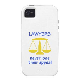 Los abogados nunca pierden su vibe iPhone 4 fundas