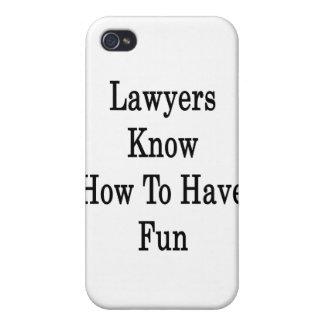 Los abogados saben divertirse iPhone 4/4S funda