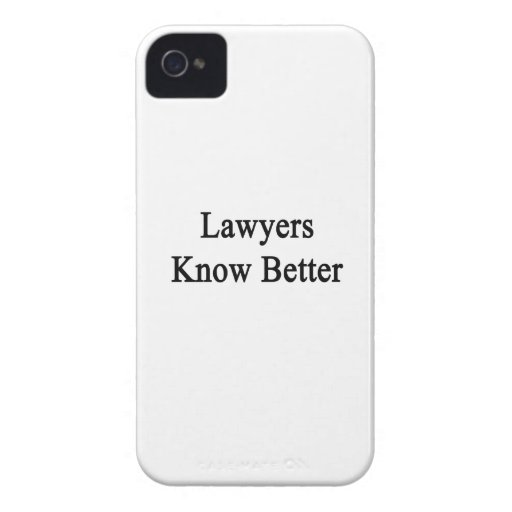 Los abogados saben mejor Case-Mate iPhone 4 cárcasas