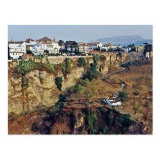 Los acantilados postal de Ronda, España