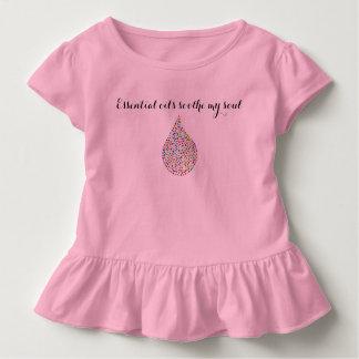 """Los """"aceites esenciales calman mi niña pequeña del camiseta de bebé"""