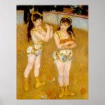 Los acróbatas de Renoir en el Cirque Fernando Póster