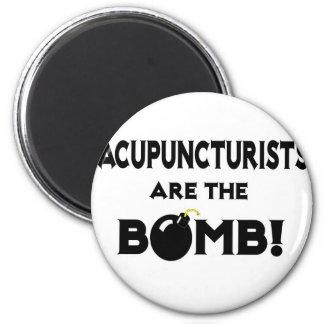 ¡Los Acupuncturists son la bomba! Iman De Nevera