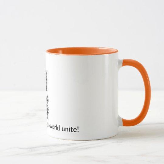 ¡Los adictos al café del mundo unen! Taza