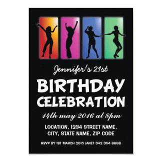 Los adultos coloridos del baile personalizaron invitación 12,7 x 17,8 cm
