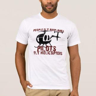 Los aeroplanos de la mosca de la gente, pilotos camiseta
