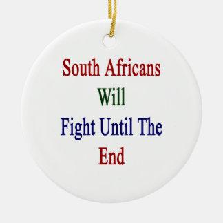 Los africanos del sur lucharán hasta el extremo adorno de reyes