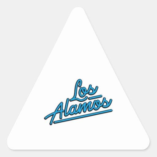 Los Alamos en ciánico Colcomanias Trianguladas