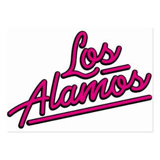 Los Alamos en magenta Tarjetas De Visita Grandes