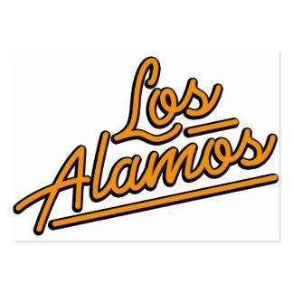Los Alamos en naranja Plantillas De Tarjetas De Visita