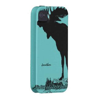 Los alces del vintage y fauna del lobo - elija el Case-Mate iPhone 4 carcasa