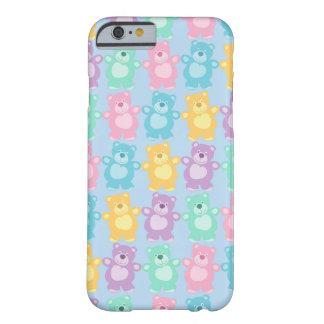 Los alegres osos bailarines de colores azul funda para iPhone 6 barely there