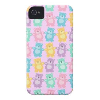 Los alegres osos bailarines de colores Case-Mate iPhone 4 coberturas