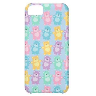 Los alegres osos bailarines de colores funda para iPhone 5C