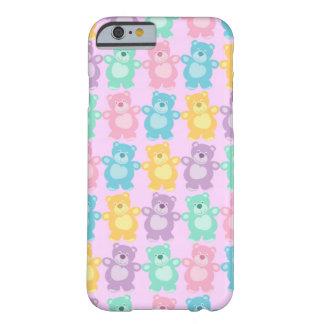 Los alegres osos bailarines de colores rosa funda para iPhone 6 barely there