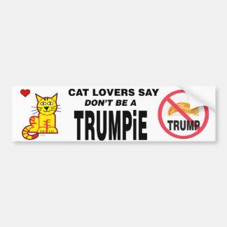 Los amantes del gato dicen no son un TRUMPiE Pegatina Para Coche