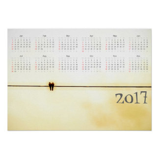 Los amantes hacen calendarios 2017 póster