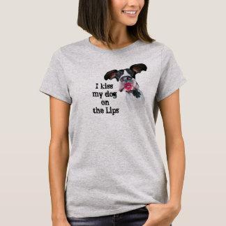 Los amigos de great dane besan mi perro camiseta