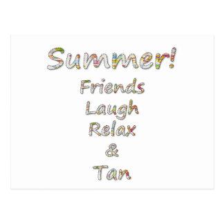 Los amigos de la colección del verano, risa, se postal