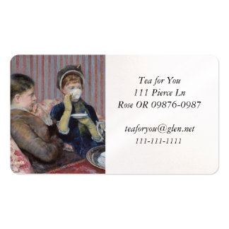 Los amigos del té tarjetas de visita