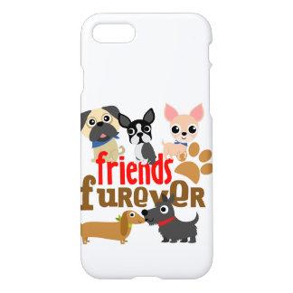 Los amigos Furever persiguen perritos Funda Para iPhone 7