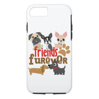 Los amigos Furever persiguen perritos Funda Para iPhone 8/7