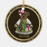 Los amigos hacen el mejor ornamento del oso de pel ornamento para arbol de navidad