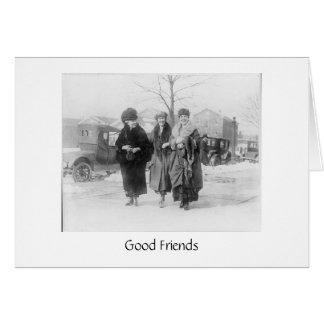 Los amigos reales son importantes tarjeta