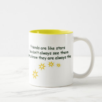 Los amigos son como las estrellas tazas de café