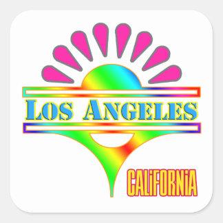 """""""Los Ángeles 1"""" colorido pegatina"""
